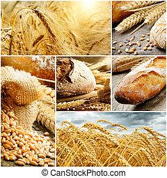 хлеб, традиционный, зерновой, задавать, пшеница