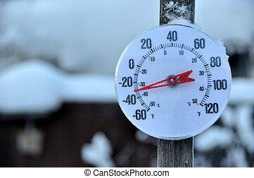 холодно, погода, термометр
