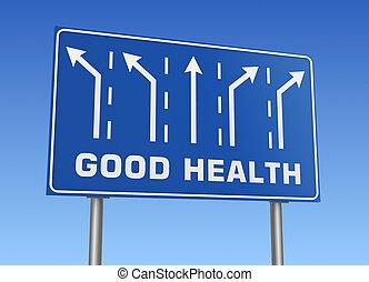 хорошо, здоровье, дорога, знак