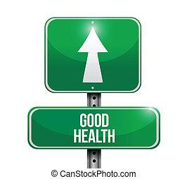 хорошо, иллюстрация, знак, здоровье, дизайн, дорога