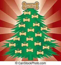 хорошо, рождество, дерево, dogs