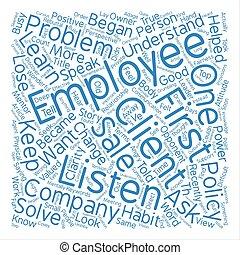 хорошо, слово, смотреть, текст, держать, как, концепция, задний план, учить, наемный рабочий, облако, слушать