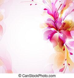 цветок, абстрактные