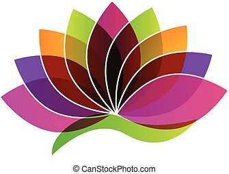 цветок, логотип, лотос