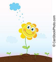 цветок, счастливый