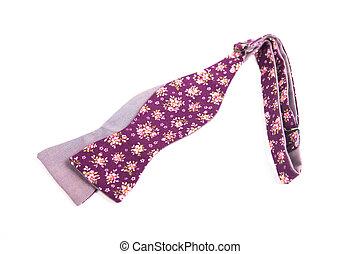 цветок, цветной, isolated, лук, задний план, галстук, белый