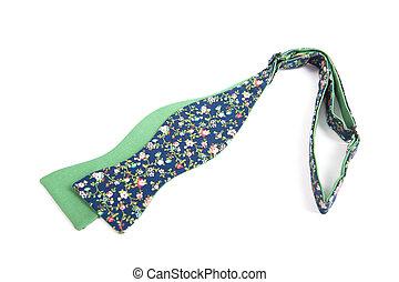 цветок, isolated, лук, зеленый, задний план, галстук, белый