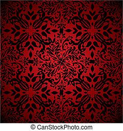 цветочный, абстрактные, горячий, красный