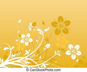 цветочный, абстрактные, задний план, вектор