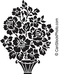 цветочный, букет, иллюстрация