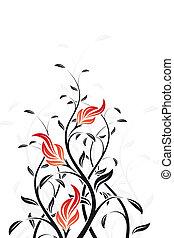 цветочный, водоворот