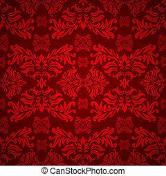 цветочный, готика, красный