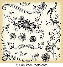 цветочный, декоративный, elements