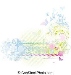цветочный, дизайн, задний план