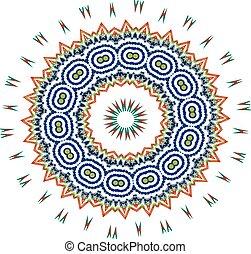 цветочный, задний план, белый, шаблон
