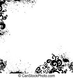 цветочный, задний план, вектор