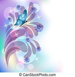 цветочный, задний план
