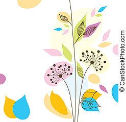 цветочный, задний план, ?bstract, вектор
