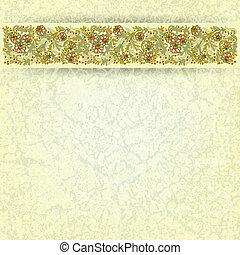 цветочный, орнамент, abctract, гранж, задний план