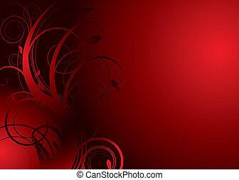 цветочный, плотина, красный