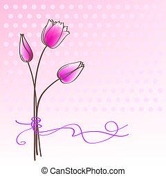 цветочный, приветствие, карта