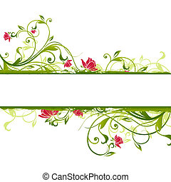 цветочный, рамка