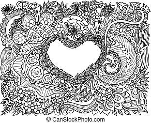 цветочный, сердце