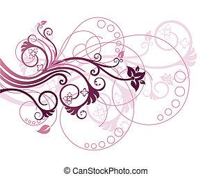 цветочный, 1, дизайн, элемент