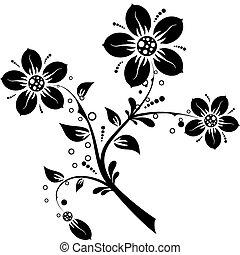 цветочный, elements, дизайн, вектор