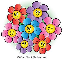 цветы, группа, мультфильм
