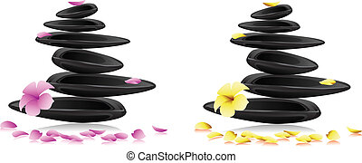 цветы, спа, stones