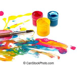 цвет, абстрактные, боль, задний план
