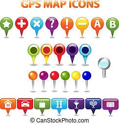 цвет, карта, gps, icons