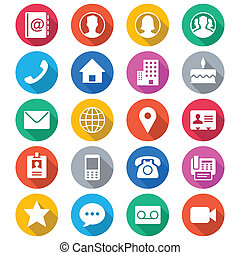 цвет, квартира, контакт, icons