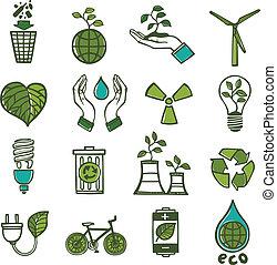 цвет, отходы, экология, задавать, icons