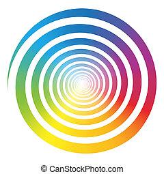 цвет, радуга, белый, градиент, спираль