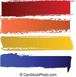 цвет, banners, вектор, задавать