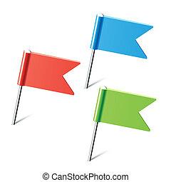 цвет, pins, флаг, задавать