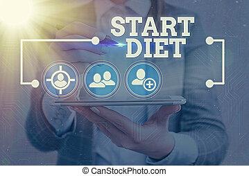цифровой, мода, elements, начало, фото, информация, знак, сеть, контролируемый, подключение, icon., текст, diet., питание, концептуальный, показ, infographic, принимать пищу, технологии, практика, регулируется