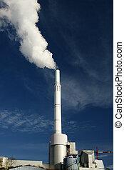 чад, растение, атмосфера, мощность, излучающий