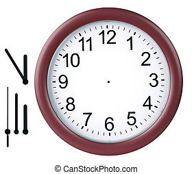 часы, isolated, круглый