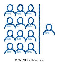 человек, значок, слабоумие, население, болван, вничью, иллюстрация, рука, per