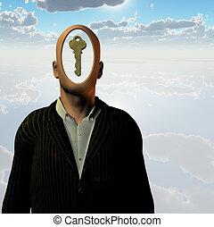 человек, ключ