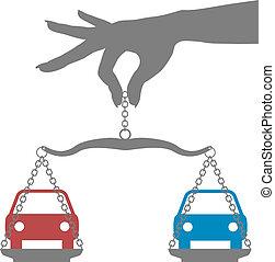 человек, решение, купить, выбор, легковые автомобили