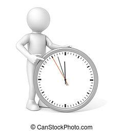 человек, часы