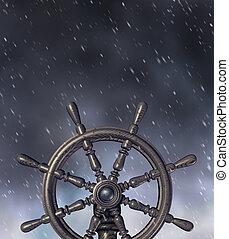 через, navigating, буря