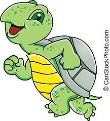 черепаха, бег