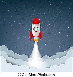 число звезд:, ракета, небо, мультфильм, облако