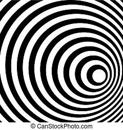 шаблон, абстрактные, спираль, background., черный, белый, кольцо
