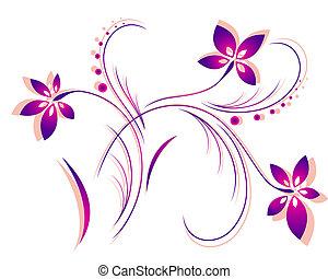 шаблон, вектор, цветок